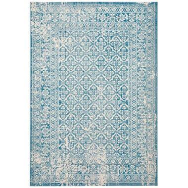 Vloerkleed Kentani - blauw - 160x230 cm - Leen Bakker