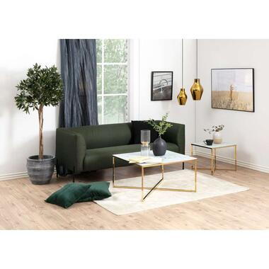Salontafel Ostana wit goudkleur 45x80x80 cm Leen Bakker
