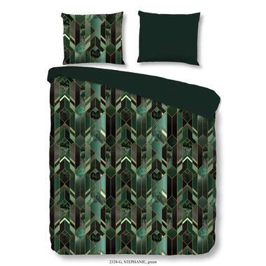 Good Morning dekbedovertrek Stephanie groen 140x200 220 cm Leen Bakker