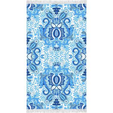 Happiness strandlaken Yogi blauw 100x180 cm Leen Bakker