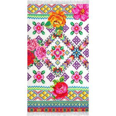 Happiness strandlaken Yucatan - multikleur - 100x180 cm - Leen Bakker