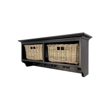 HSM Collection wandkapstok Floor - zwart - 38x92x38 cm - Leen Bakker