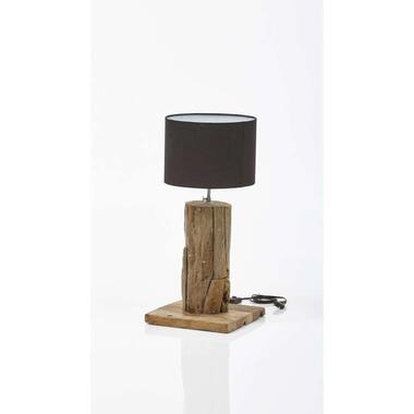 HSM Collection tafellamp Idas rond bruin 50x25x25 cm Leen Bakker
