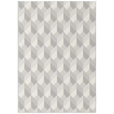 Vloerkleed Fian - grijs - 160x230 cm - Leen Bakker