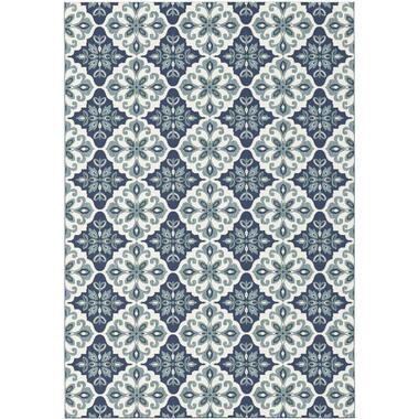 Vloerkleed Diabo - blauw - 200x290 cm - Leen Bakker