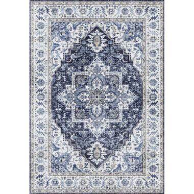 Vloerkleed Saly - blauw - 200x290 cm - Leen Bakker