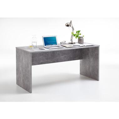 Bureau Brick - betonkleur - 75,5x160x68 cm - Leen Bakker