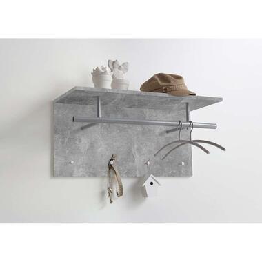 Kapstok Spot - betonkleur - 34,5x72x29,5 cm - Leen Bakker