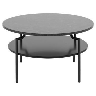 Salontafel Soto - zwart/marmerprint - 45x80 cm - Leen Bakker