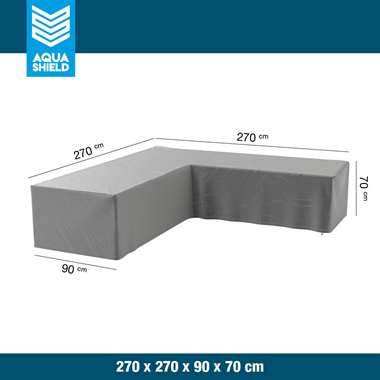 AquaShield loungesethoes L-vorm - 270x270x90xH70 cm - Leen Bakker