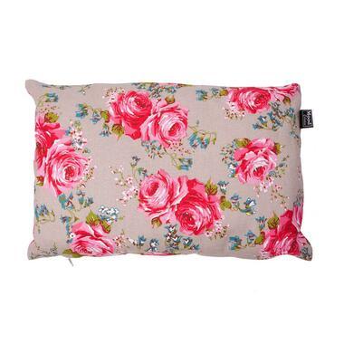 Sierkussen Rosemary - kiezel/roze - 30x45 cm - Leen Bakker