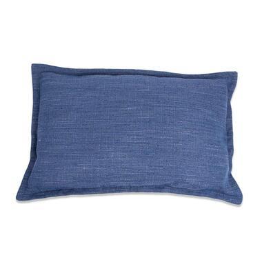 Kussen Salvador - blauw - 35x55 cm - Leen Bakker