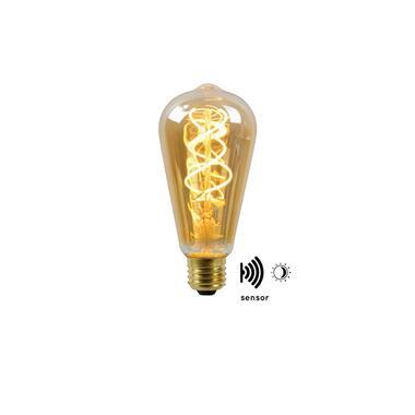 Lucide LED Bulb Twilight Filament lamp E27 4W - amber - Ø6,4 cm - Leen Bakker