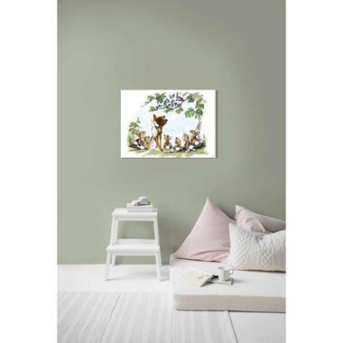 Art for the Home canvas Bambi & Vriendjes - multikleur - 70x50 cm