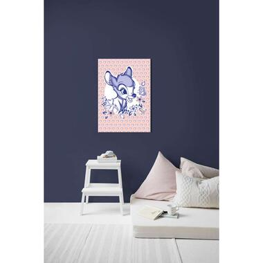 Art for the Home canvas Bambi Joy of Life - roze - 50x70 cm