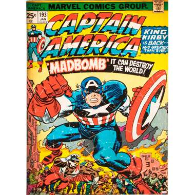 Art for the Home canvas Captain America - multikleur - 50x70 cm