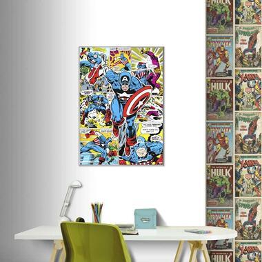 Art for the Home canvas Captain America Hero - multikleur - 50x70 cm