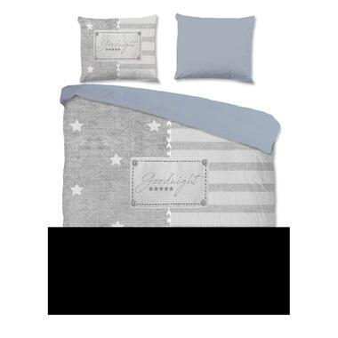 Pure dekbedovertrek Sterre - grijs - 140x220 cm - Leen Bakker