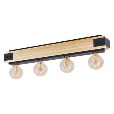 EGLO hanglamp Layham 4-lichts - bruin/zwart - Leen Bakker