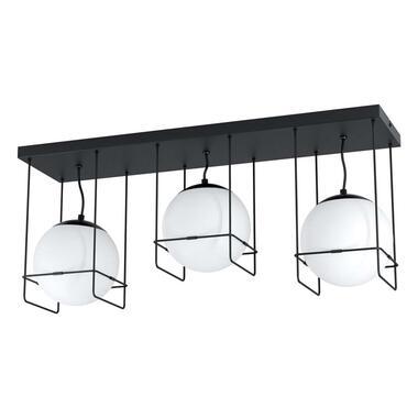 EGLO plafondlamp Versuola - zwart/wit - Leen Bakker