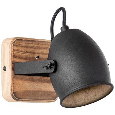Brilliant wandlamp Crowton - zwart - GU10 - Leen Bakker