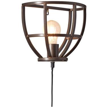 Brilliant wandlamp Matrix - zwart - E27 - Leen Bakker