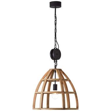 Brilliant hanglamp Matrix - hout - 47 cm - Leen Bakker