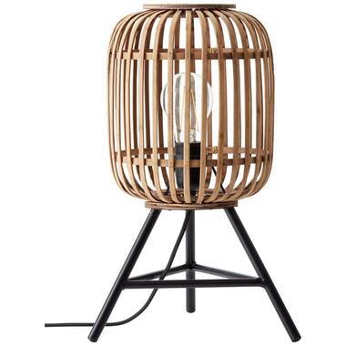 Brilliant tafellamp Woodrow - bruin - 30 cm - Leen Bakker
