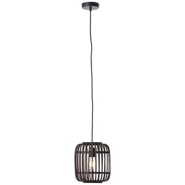 Brilliant hanglamp Woodrow - zwart - 21 cm - Leen Bakker