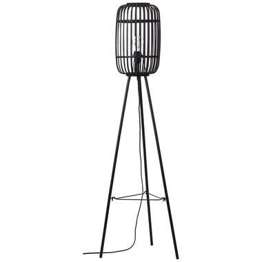 Brilliant vloerlamp Woodrow - zwart - 45 cm - Leen Bakker