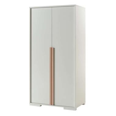 Vipack 2-deurs kledingkast Londen - wit - 195.2x98.4x56 cm