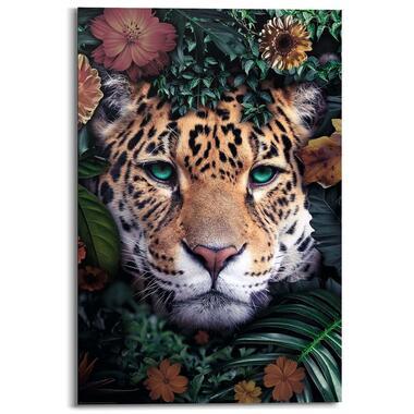 Wandpaneel Wildlife Flowers - multikleur - 60x90 cm - Leen Bakker