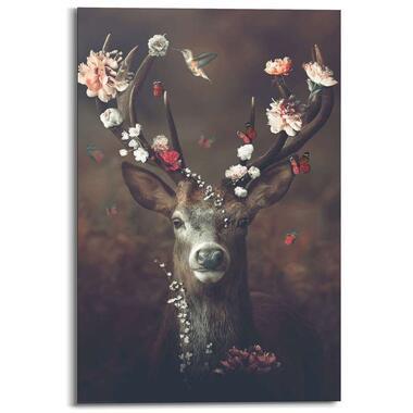 Wandpaneel Fauna Flora Deer - bruin - 60x90 cm - Leen Bakker