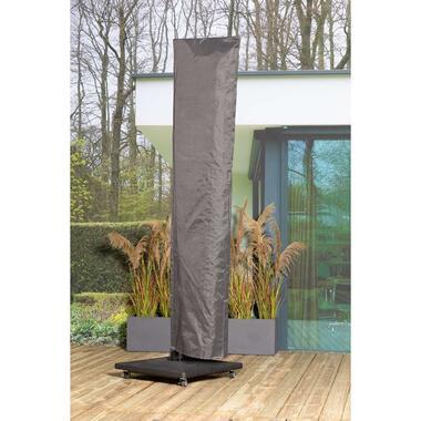 Outdoor Covers premium beschermhoes parasol XL - grijs - Leen Bakker