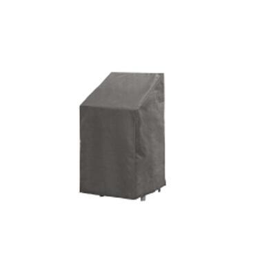Outdoor Covers stapelstoelhoes - grijs - 66x95x133/93 cm - Leen Bakker