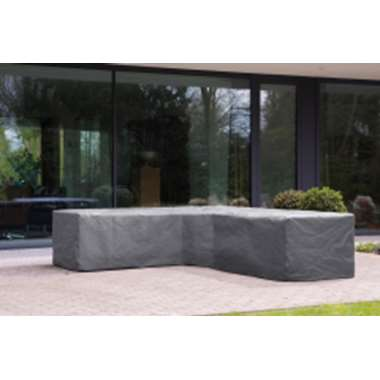 Outdoor Covers premium loungesethoes trapezium - grijs - Leen Bakker