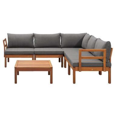 Le Sud modulaire loungeset Orleans V2 - donkergrijs - 6-delig - Leen Bakker