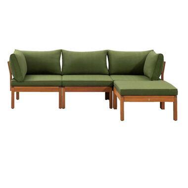 Le Sud modulaire loungeset Orleans - groen - 4-delig - Leen Bakker