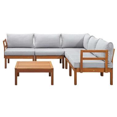 Le Sud modulaire loungeset Orleans V2 - lichtgrijs - 6-delig - Leen Bakker