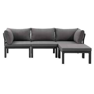 Le Sud modulaire loungeset Ardeche - grijs - 4-delig - Leen Bakker