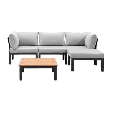 Le Sud modulaire loungeset Ardeche V1 - lichtgrijs - 5-delig - Leen Bakker
