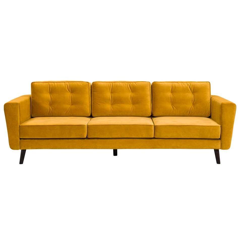 Bank Bristol 3-zits - geel - Leen Bakker