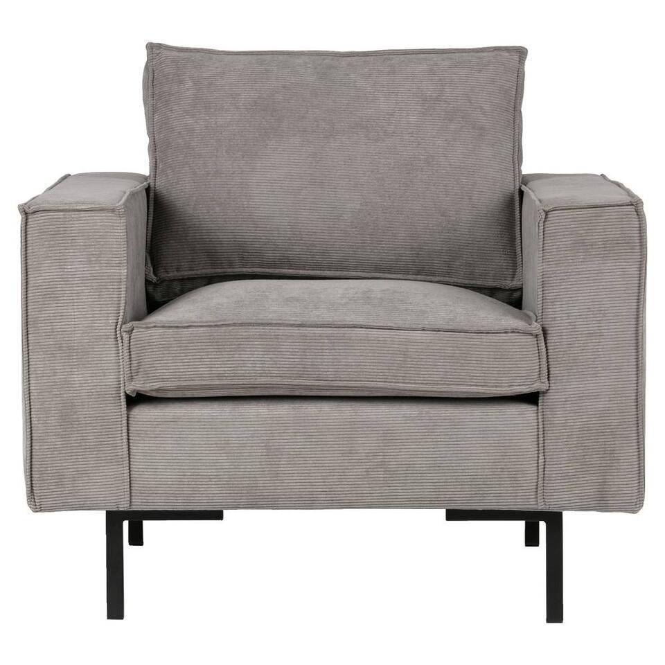 Woood fauteuil Arwin - vergrijsd groen