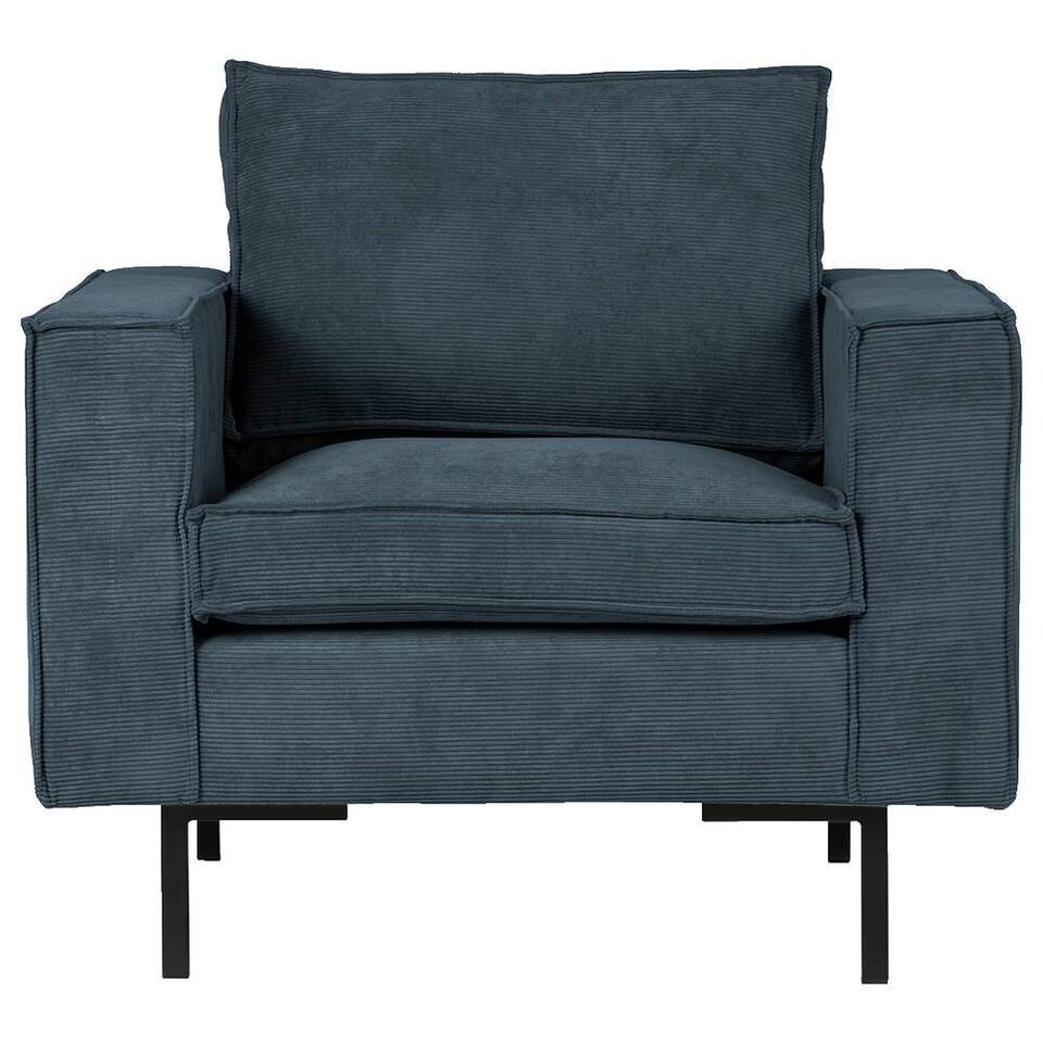 Woood fauteuil Arwin - staalblauw
