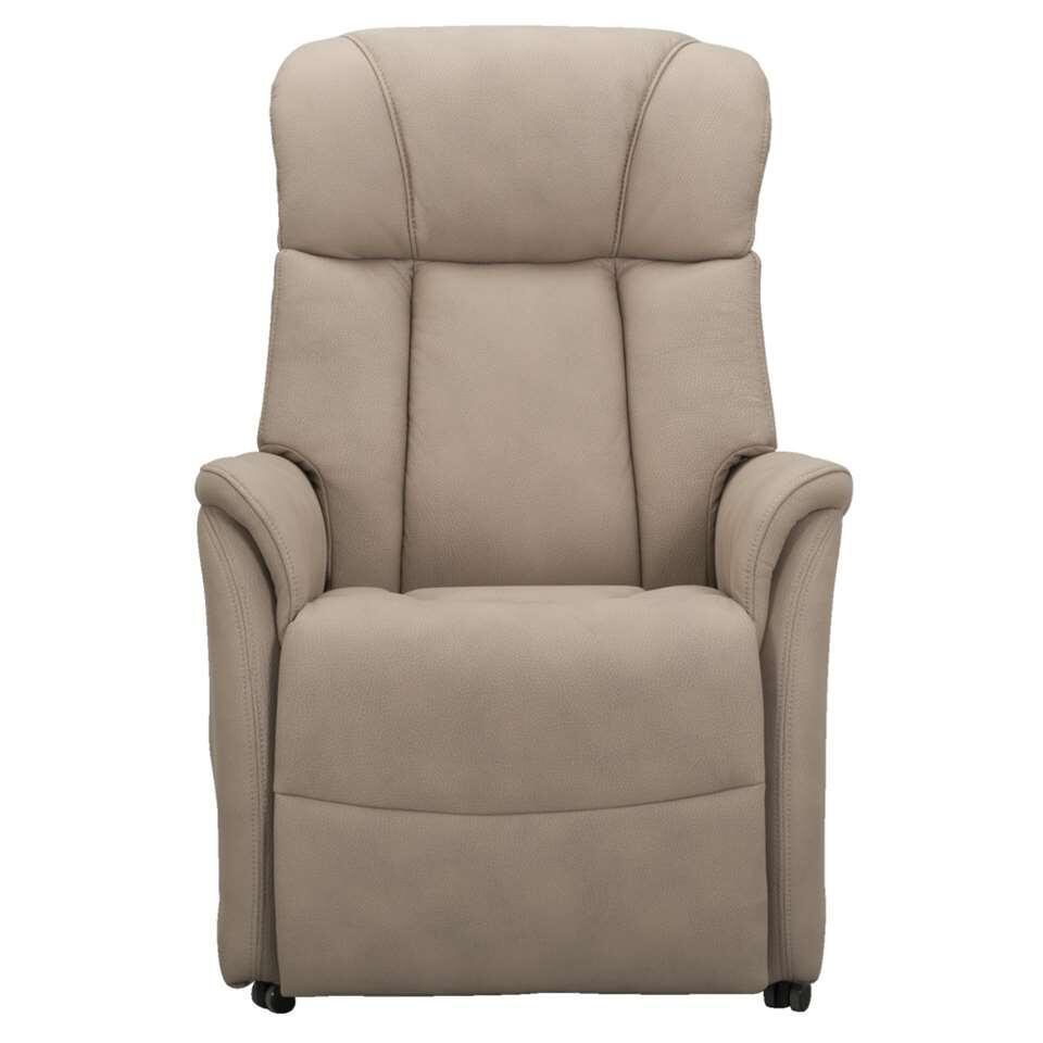 Relaxfauteuil Nebraska is een elektrisch verstelbare sta -op stoel in stijlvolle taupe kleur. Deze stoel is niet alleen zeer comfortabel en praktisch, maar ook erg mooi.
