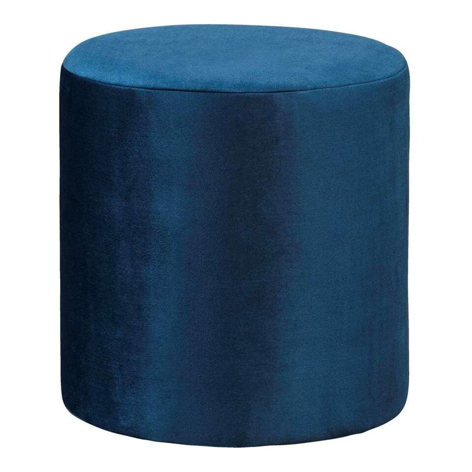 Hocker Wenen - blauw - 40x37 cm