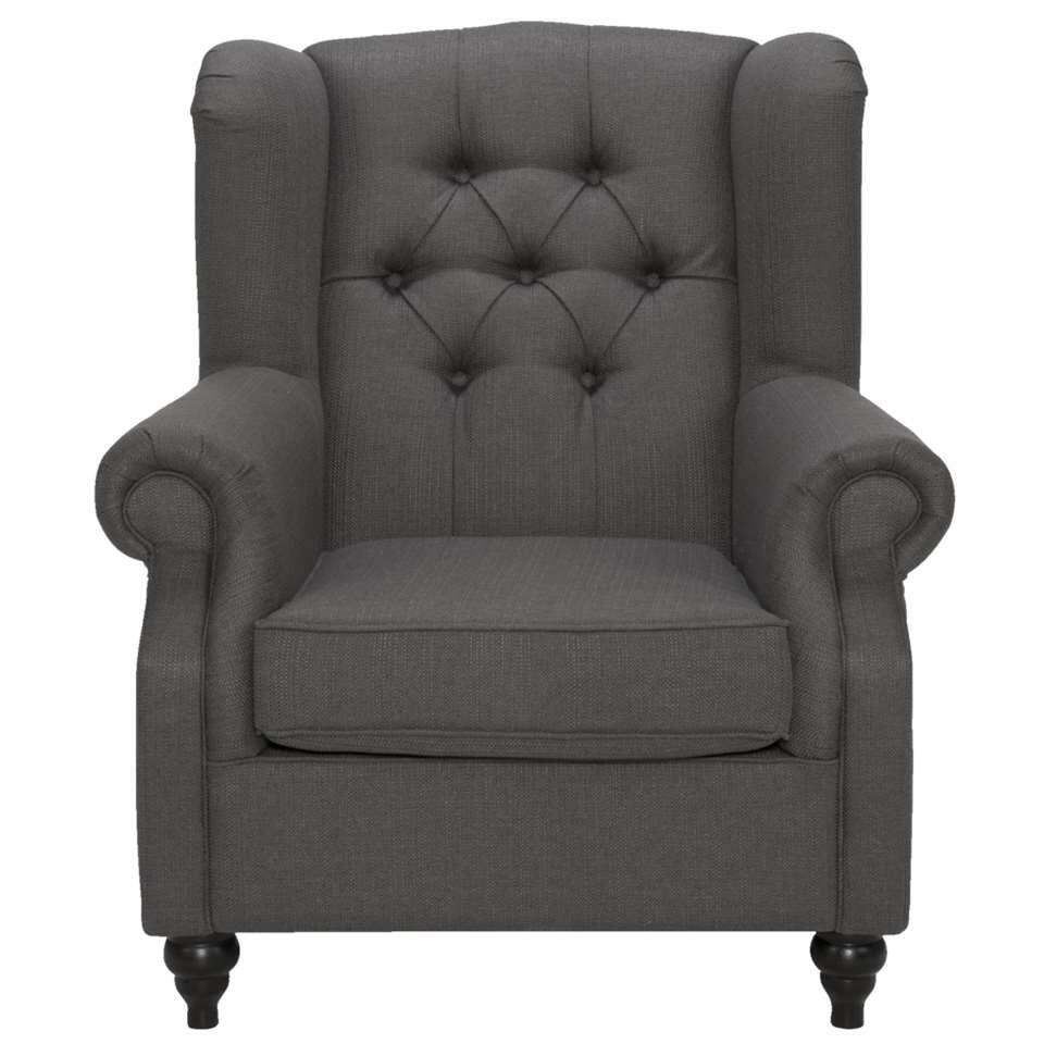 Fauteuil Marit - stof - antraciet