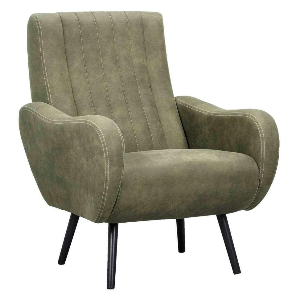 Fauteuil Durham - vert olive - 91x71x86 cm