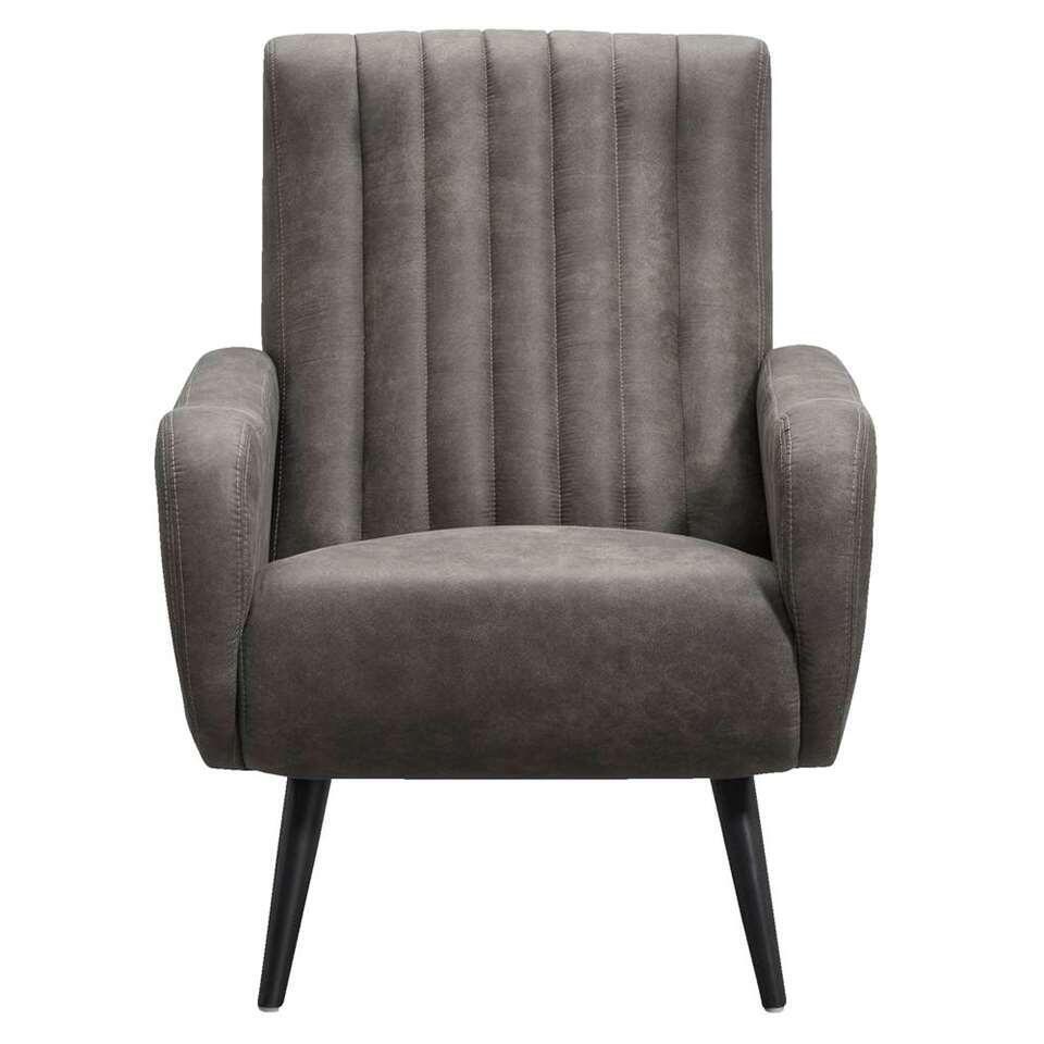 Fauteuil Durham - grijs - 91x71x86 cm - Leen Bakker