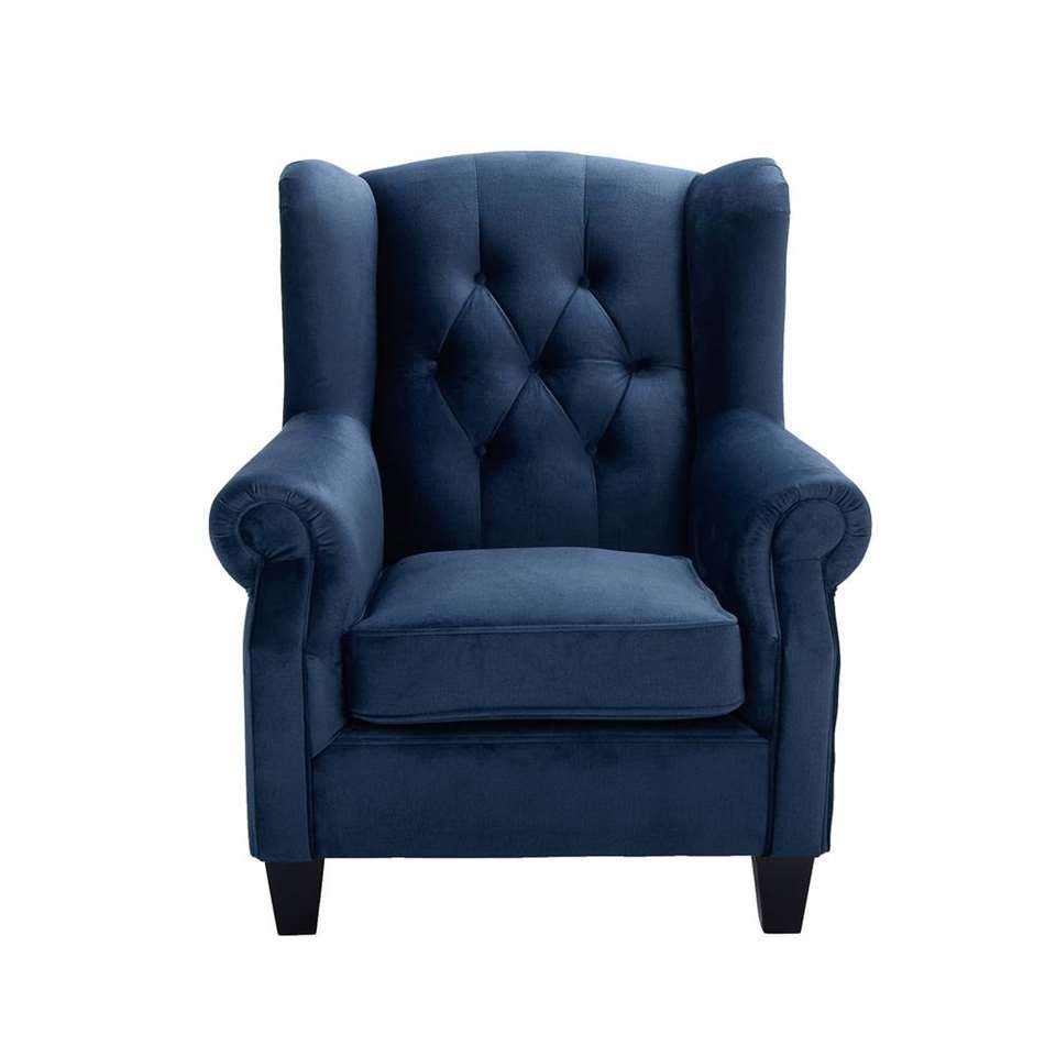 Luxe Stoffen Fauteuil.Fauteuil Maayke Stof Blauw